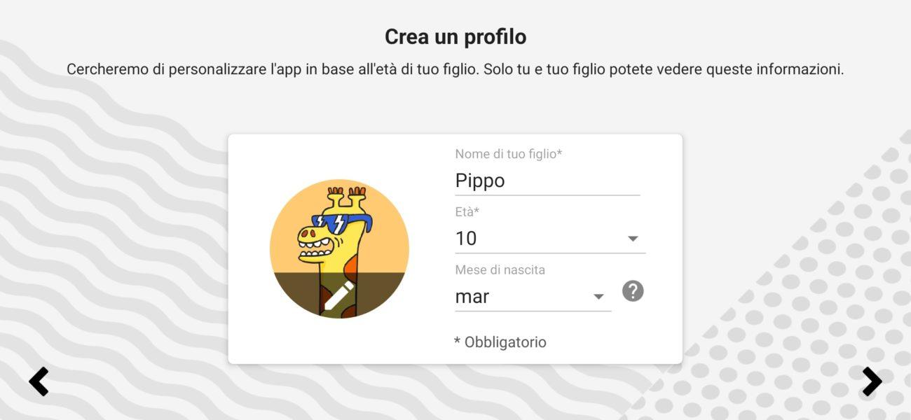 Creare un profilo