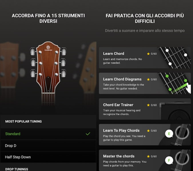 GuitarTuna per Android e IOS