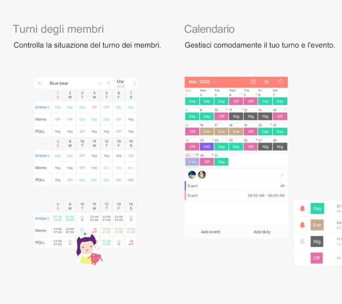 App per programmare turni di lavoro