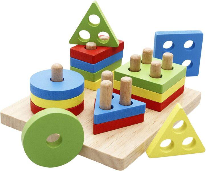 4 forme geometriche colorate
